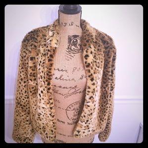 Faux Animal Fur Coat